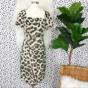 Banana Republic Leopard Print Sophia Sheath Dress
